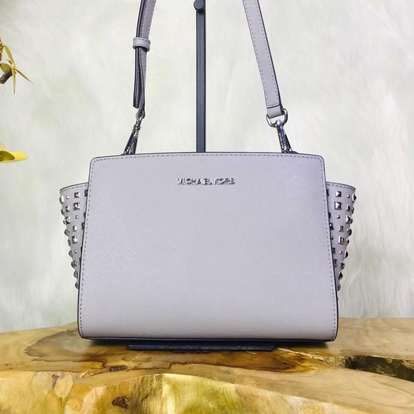 13d69715526c Michael Kors Selma Medium Studded Messenger Bag
